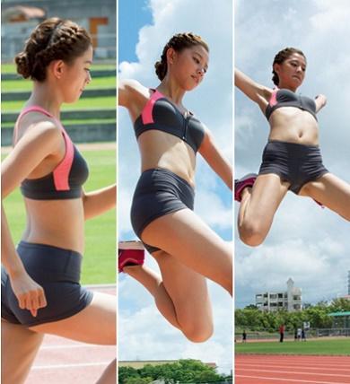 朝比奈彩 元気ハツラツ美足モデルの色っぽいグラビア写真40枚 「走り幅跳びの股間ローアングルショットがえろすぎ」